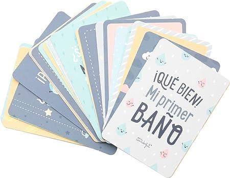Mr. Wonderful WOA08992ES Tarjetas Para Recordar Mi Primer Año en Fotos, 10 x 14,5 cm, Azul