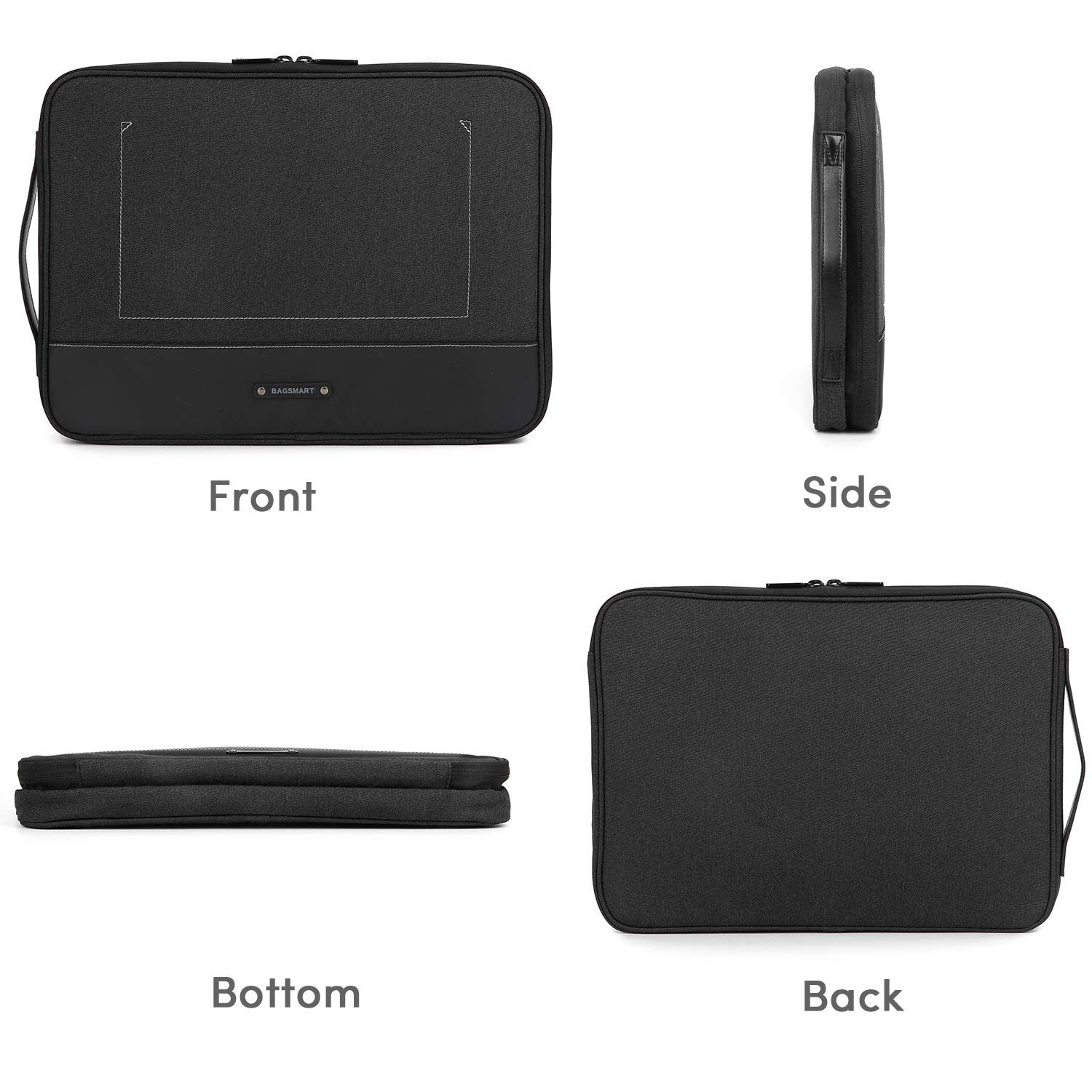 Black Hard Drives Adapter BAGSMART Travel Organizer Electronics Laptop Accessories Bag with 15 inch MacBook Pro Compartment 12.9 inch iPad Pro for Cable