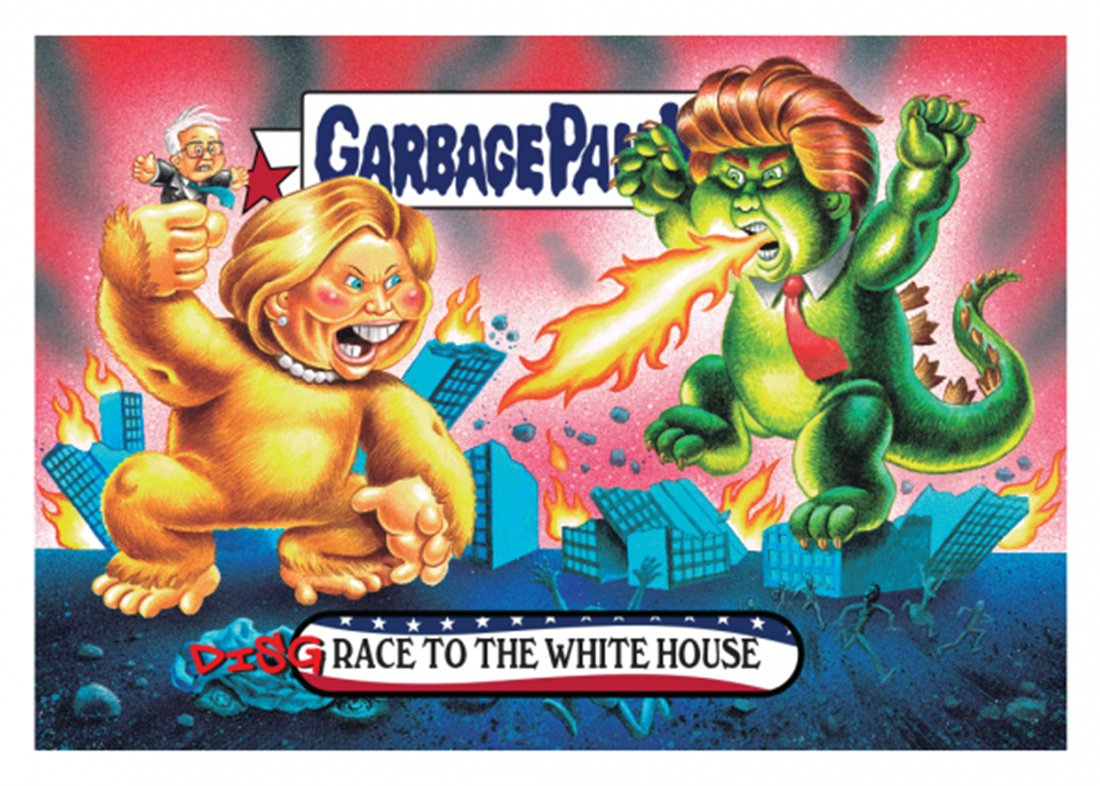 Garbage Pail Kids GPK: Disgrace to the White House Donald Trump vs Hillary Clinton #1