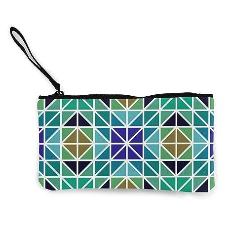 Wrution Mosaic - Monedero con Cremallera y diseño de ...