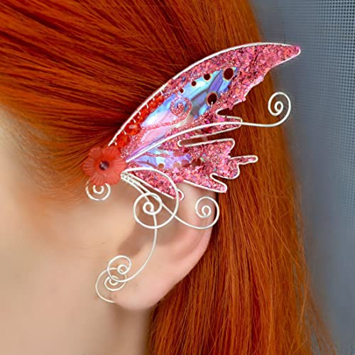 Amazon Fairy Earring Magic Ear Cuffs Pink Butterfly Wing Good