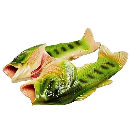 5d2084f53 HEMAY Unisex Funny Beach Bathroom Lightweight Creative Fish Slippers Green