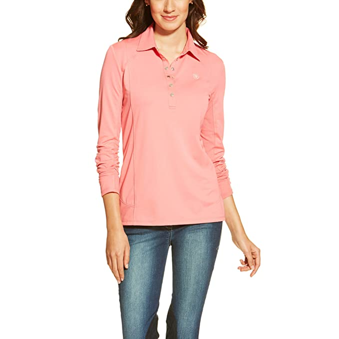 d71b1276bf5ba Ariat Womens Sunstopper Polo Small Strawberry Pink  Amazon.ca ...