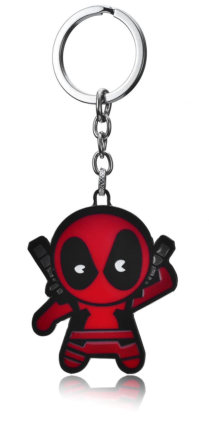 REINDEAR Cute Marvel Deadpool Figure Metal Pendant Keychain Bag Charm US Seller 758182497742