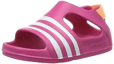 9903832f0 adidas Adilette Play Slides 3-9 Bold Pink White - 6 Infant UK