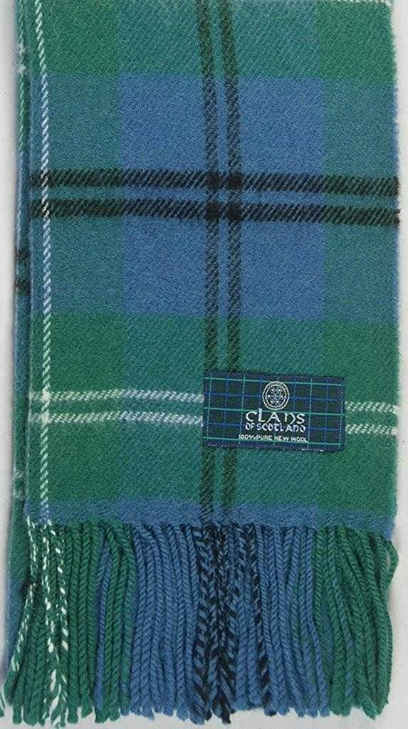 Lambswool Scottish Clan Scarf Melville Ancient Tartan