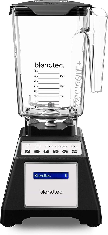 Blendtec Total Classic Original Blender - WildSide+ Jar (90 oz) - Professional-Grade Power - 6 Pre-programmed Cycles - 10-speeds - Black