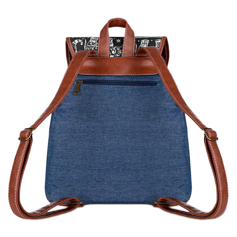 Vbiger Canvas Backpack for Women & Girls Boys Casual Book Bag Sports Daypack (Elephant Black1) by VBIGER (Image #3)