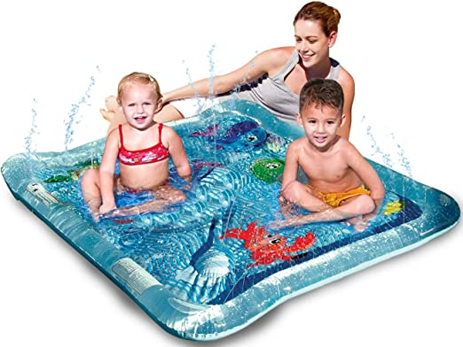 Pulpo Alfombra de Agua Bebes Inflable Water Mat,Alfombra de Juegos Adecuado para Ni/ños Peque/ños