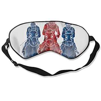 Amazon.com : Eye Mask Natural Silk Funny Riding Horse Race Horse Jockey Equestrian Eye Cover Sleeping Eyeshade : Beauty