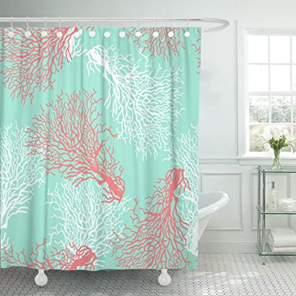 Image Unavailable Not Available For Color Emvency Shower Curtain Red Pattern Colorful Coral Reef