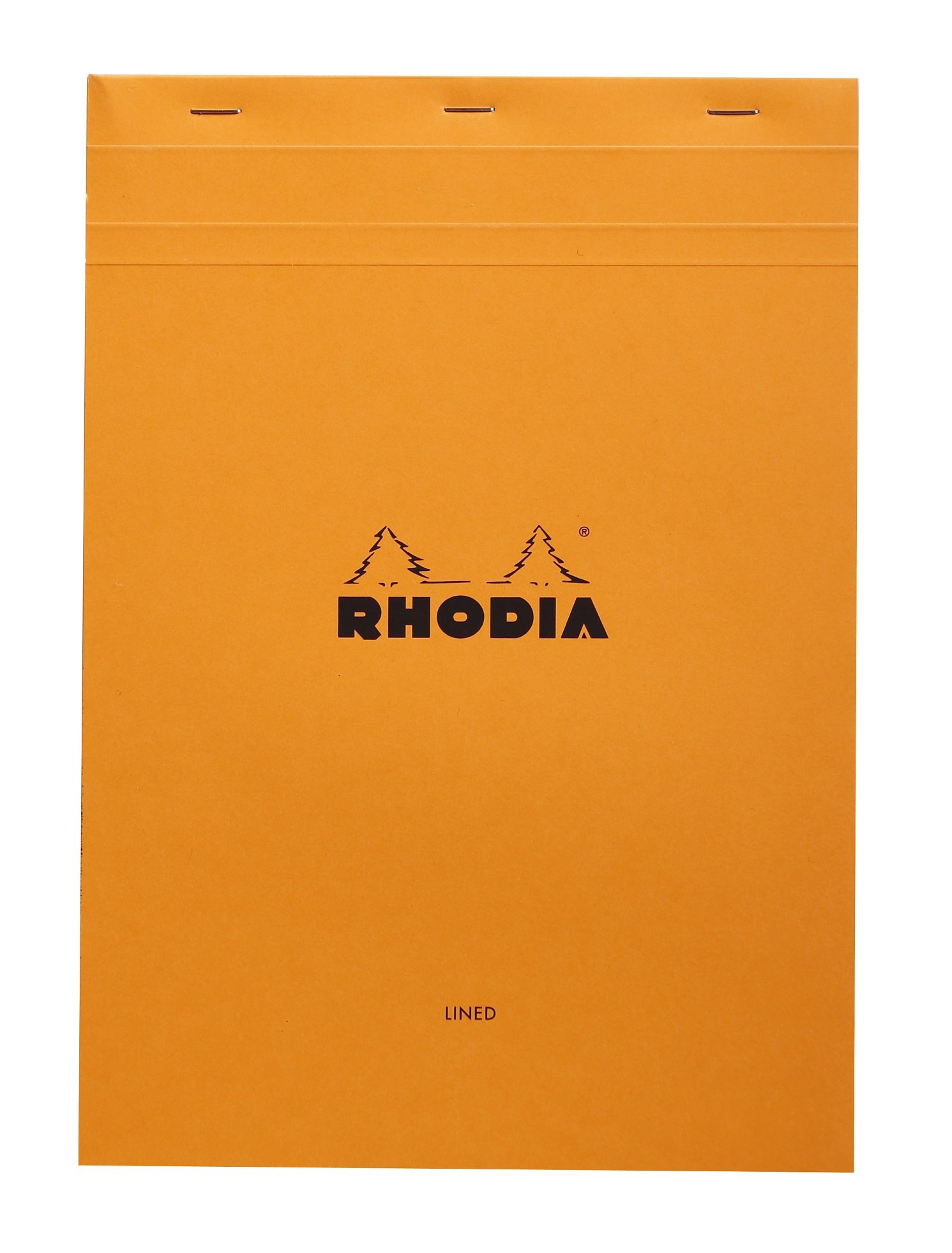Rhodia Staplebound Notepads - Lined w/ margin 80 sheets - 8 1/4 x 11 3/4 in. - Orange cover by Rhodia