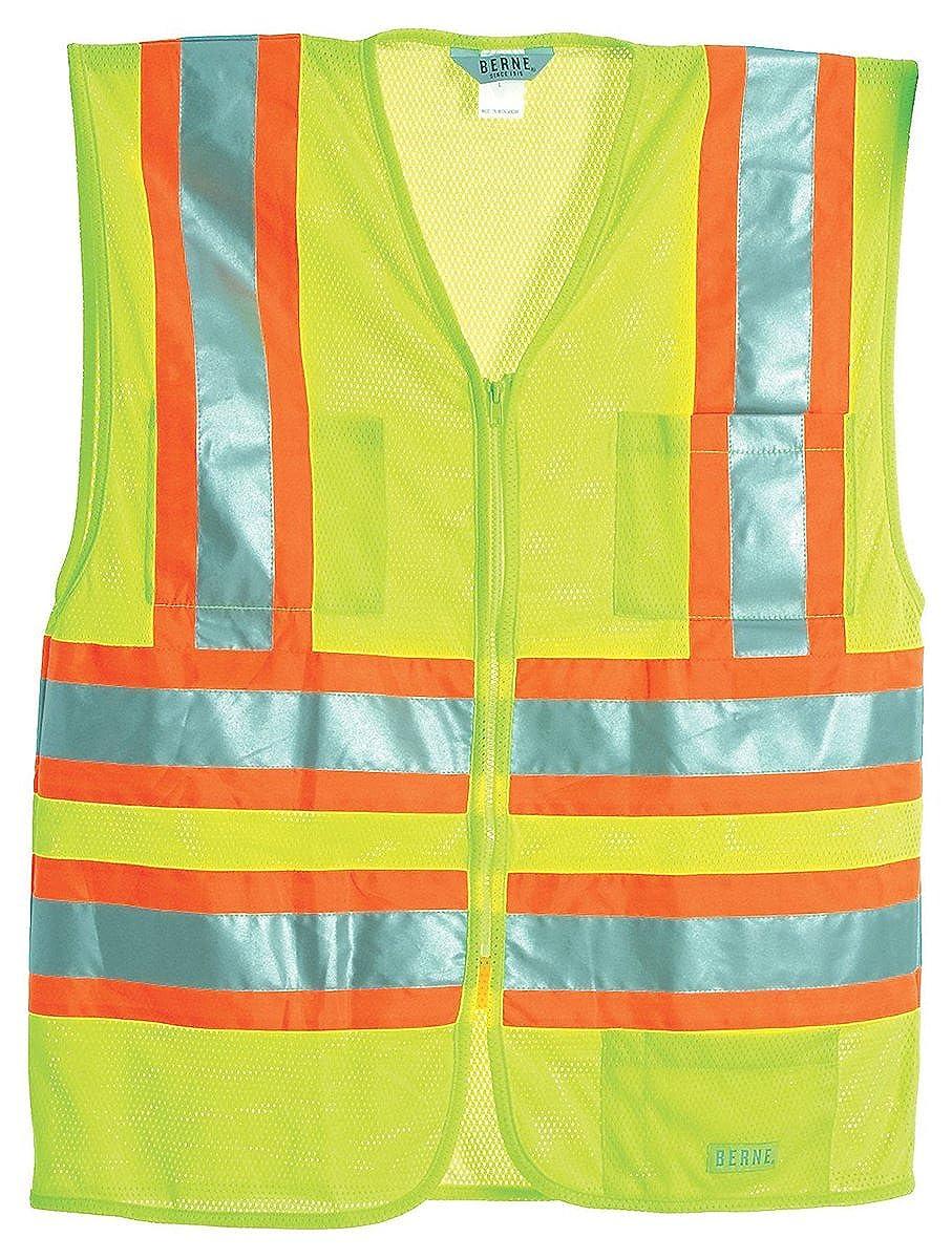 Hvv046ywr Berne Mens Hi-Visibility Multi-Color Vest