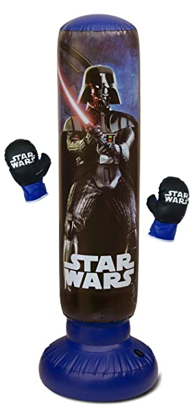 Star Wars 209836 Bolsa de Boxeo Hinchable para niño, Negro: Amazon ...