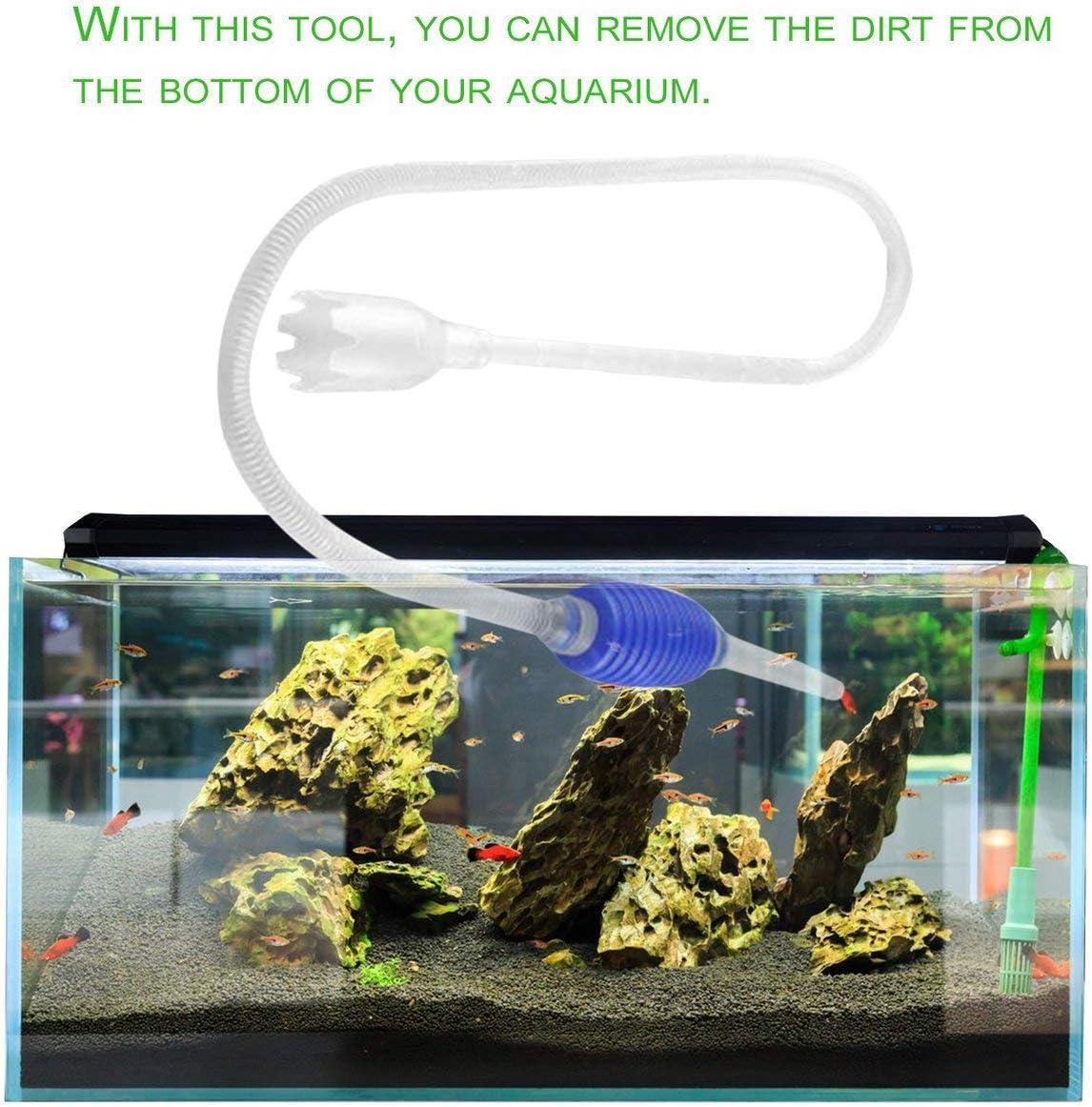 Pudincoco Aquarium Fish Tank Vide /Échange deau Gravier Outil De Nettoyage Tuyau Daspiration Aquarium Accessoires Syphon Pompe Filtre Tube