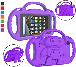 LTROP All-New Fire 7 Tablet Case, Fire 7 2019/2017 Case for Kids - Light Weight Shock Proof Handle Stand Child-Proof Case for Fire 7