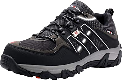 37898186557 LARNMERN Steel Toe Shoes Men, Safety Work Reflective Strip Puncture Proof  Footwear Industrial & Construction Shoe
