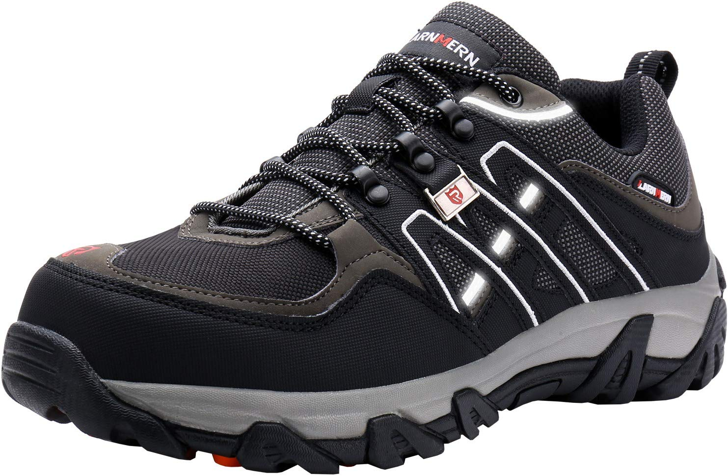 d4fd4c6b5134c LARNMERN Steel Toe Shoes Men, Safety Work Reflective Strip Puncture ...