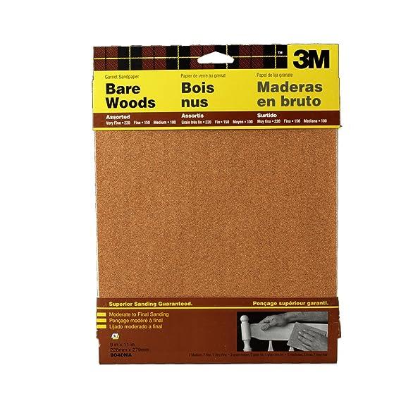 3m Garnet Sandpaper Very Fine Grit 9 Inch By 11 Inch 5 Sheet