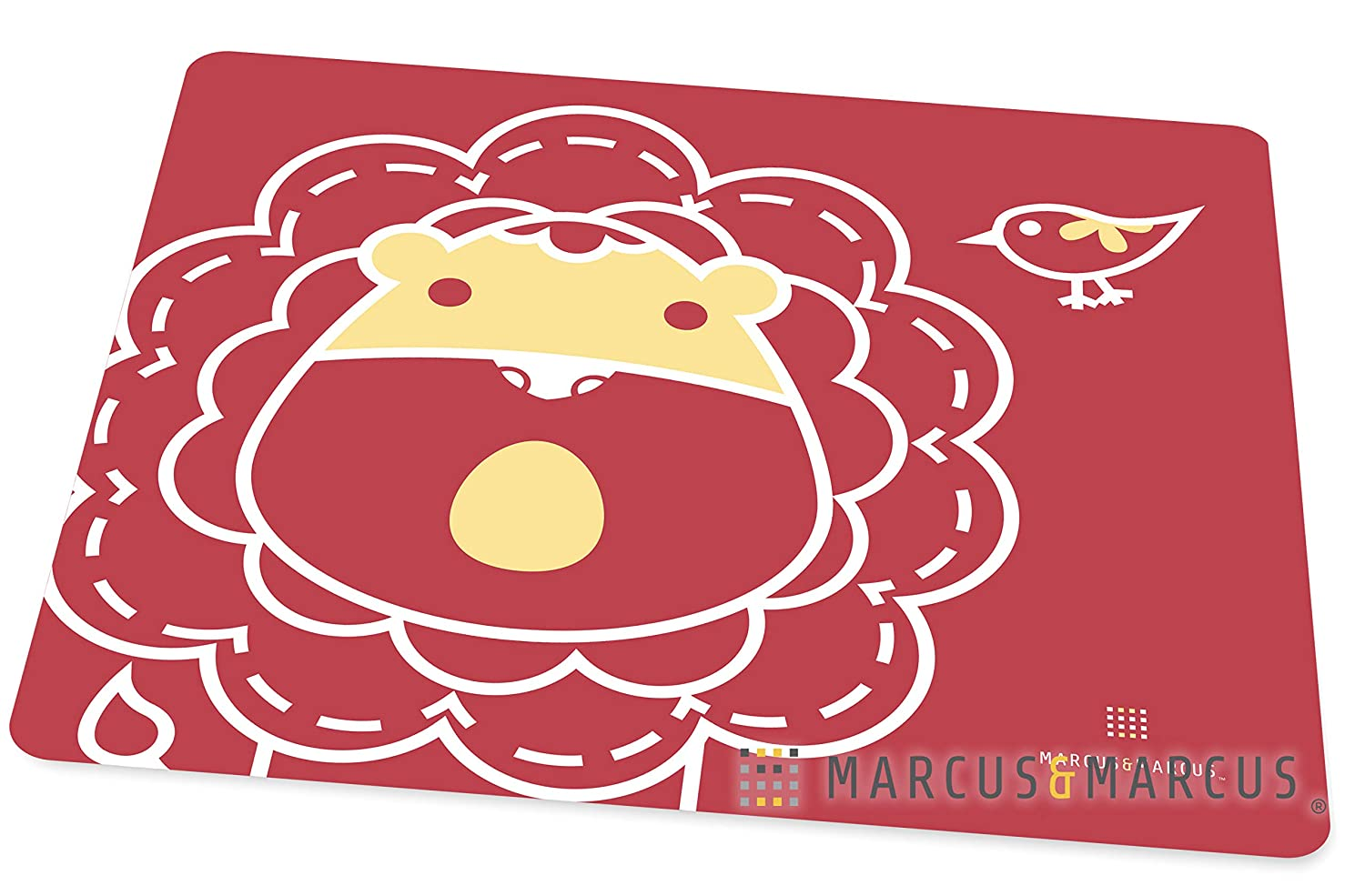 Red Marcus /& Marcus MARCUS THE LION Silicone Placemat