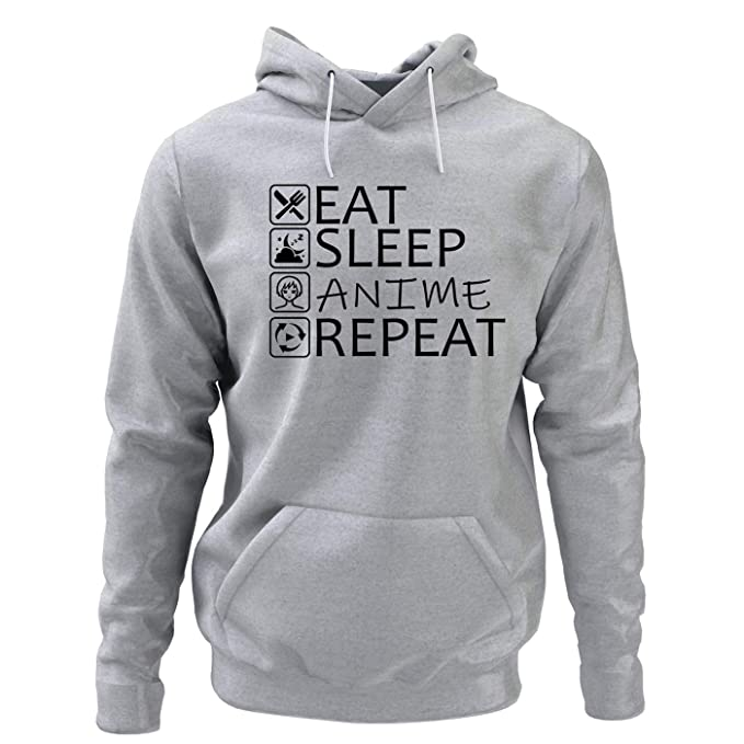 King Shirt Eat Sleep Anime Repeat Sudadera Anime Sudadera Anime Fan Sudadera Regalo para Amigo: Amazon.es: Ropa y accesorios