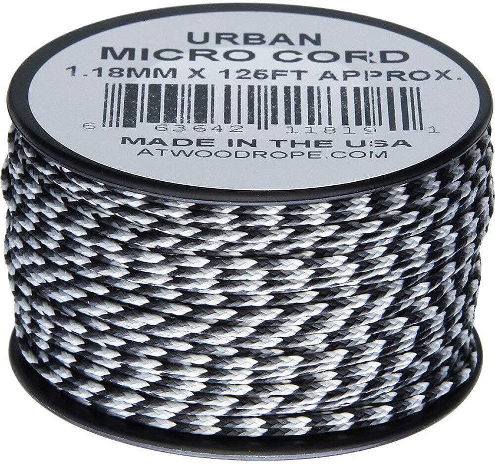 Urban Camo MC03 1.18mm x 125 Micro Cord Paracord Made in the USA Atwood Rope MFG