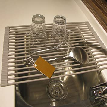 Roll Up Dish Drying Rack Stainless Steel Over The Sink Drainer Multipurpose  Kitchen Drainer Rack