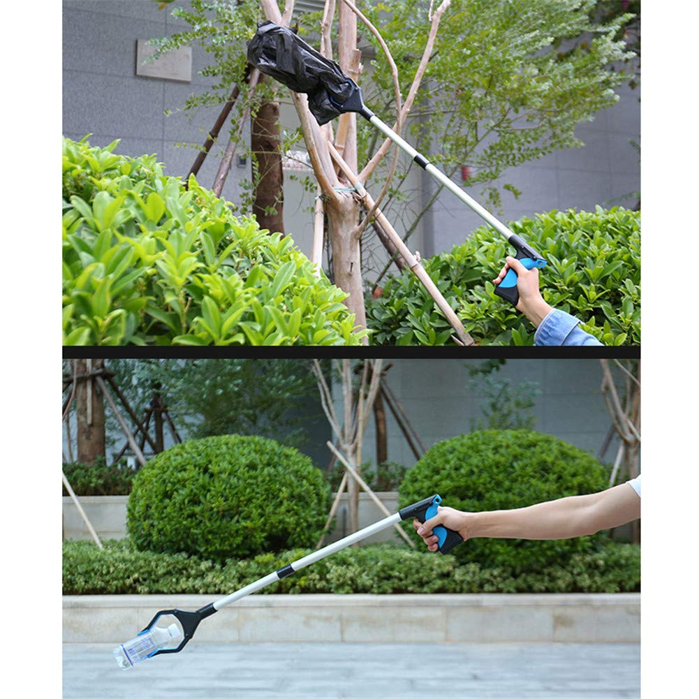 WLIXZ Pick Up Tool, Free Bending Clip, Folding Aluminum Alloy, Claw Trash Garbage Picker, for Elderly,onepair by WLIXZ (Image #3)