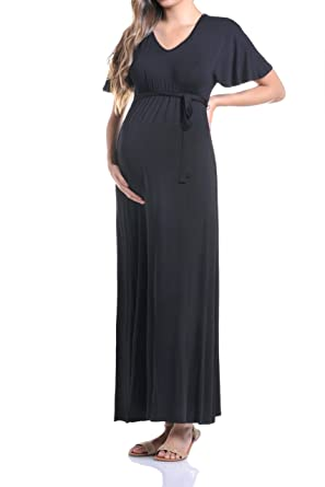313881d46259a Beachcoco Women's Maternity Kimono Sleeve Maxi Long Dress Made in USA at  Amazon Women's Clothing store: