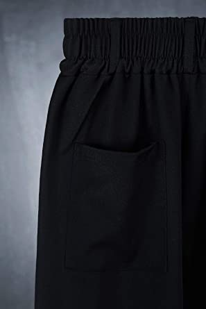 Byther Mens Fashion Relaxed Fit Super Wide Pants Belt Loops Baggy One Size