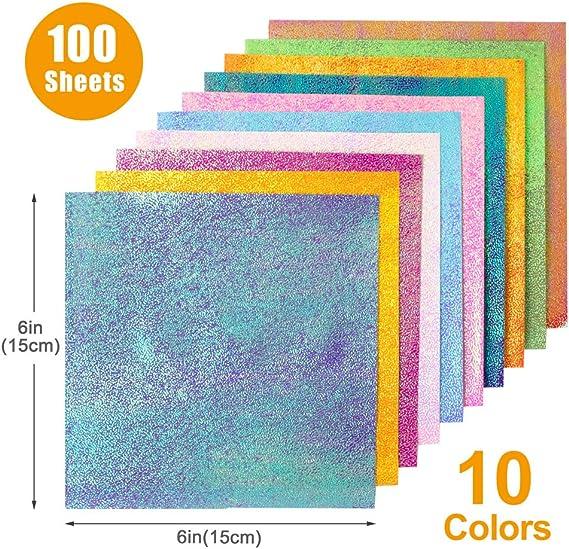 Amazon.com: Papel de origami, 200 hojas de doble cara, 20 ...