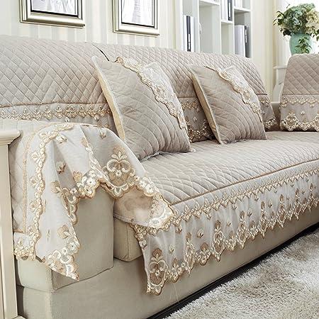 Yyl Summer European Style Modern Simple Linen Sofa Cushions Sofa