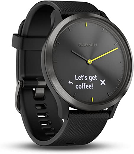 Garmin Vívomove HR Fitness Tracking Watch, Adult Large (Black)