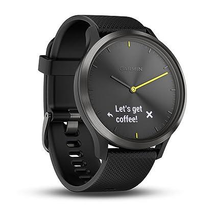 d8c3d030a Buy Garmin Vívomove HR Fitness Tracking Watch, Adult Large (Black ...
