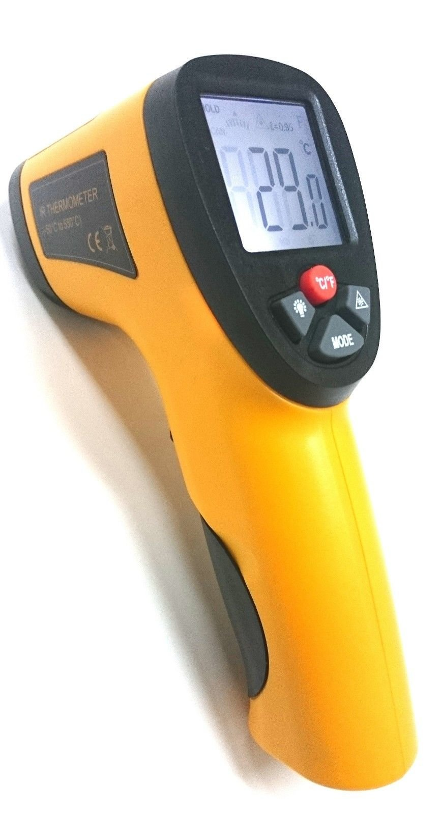 Perfect-Prime TM0826, Temperature Digital Non-contact Infrared IR Thermometer Laser Pointer Gun -58°F ~ 1022°F by Perfect-Prime