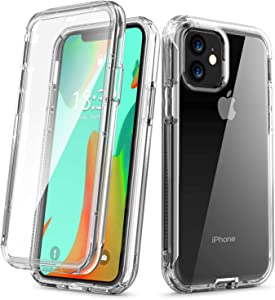 Vooii iPhone 11 Case, [Built in Screen Protector] Slim Anti-Scratch Full-Body Shockproof Dual Layer Protective Transparency Soft TPU Cover Case for iPhone 11 6.1 inch,Clear