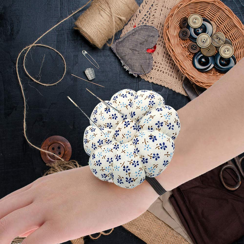 For Sewing Quilting Pins Holder Godagoda Pin Cushions Wearable Needle Pincushions Polka Orchid Bloom
