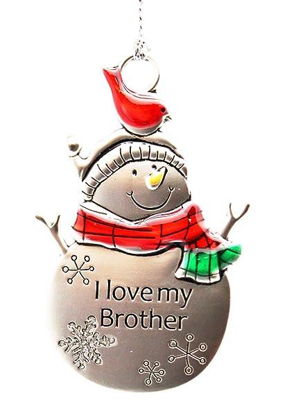 GANZ Snow Pals Ornament - I Love My Brother - Ornament Christmas Sentimental  Gift EX26751 - Amazon.com: GANZ Snow Pals Ornament - I Love My Brother - Ornament