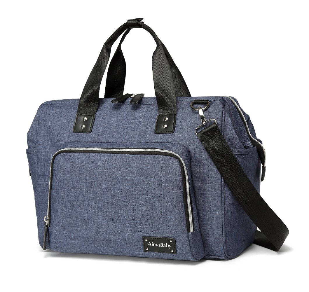 Stylish Large Multi-Function Baby Nappy Changing Bag with Changing Pad Blue Shenzhen Lancai Trading Co. Ltd.