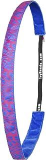 Ivybands Headband–The Non Slip Headband, Special Neon Pink Slim Line, 1.6 cm Wide Neon Pink Blue Headband, IVY200â&Acir