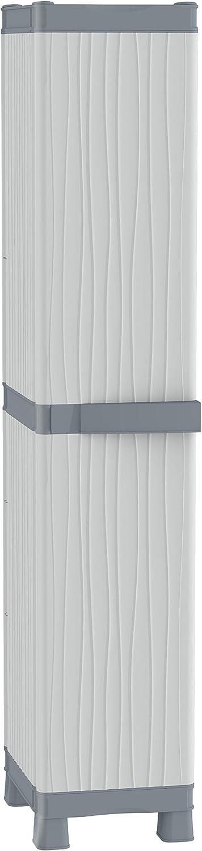 Terry - Armario plástico exterior, 35 x 43.8 x 181.8 cm