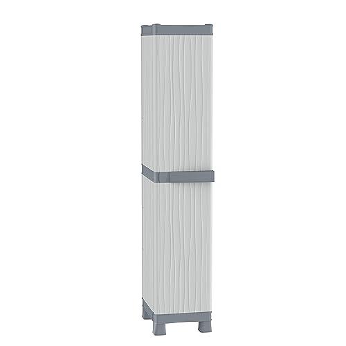 Terry Base Armoire Haute à colonne en plastique Tuttopiani 2350 RUW, gris, 35x 43,8x 181,8cm