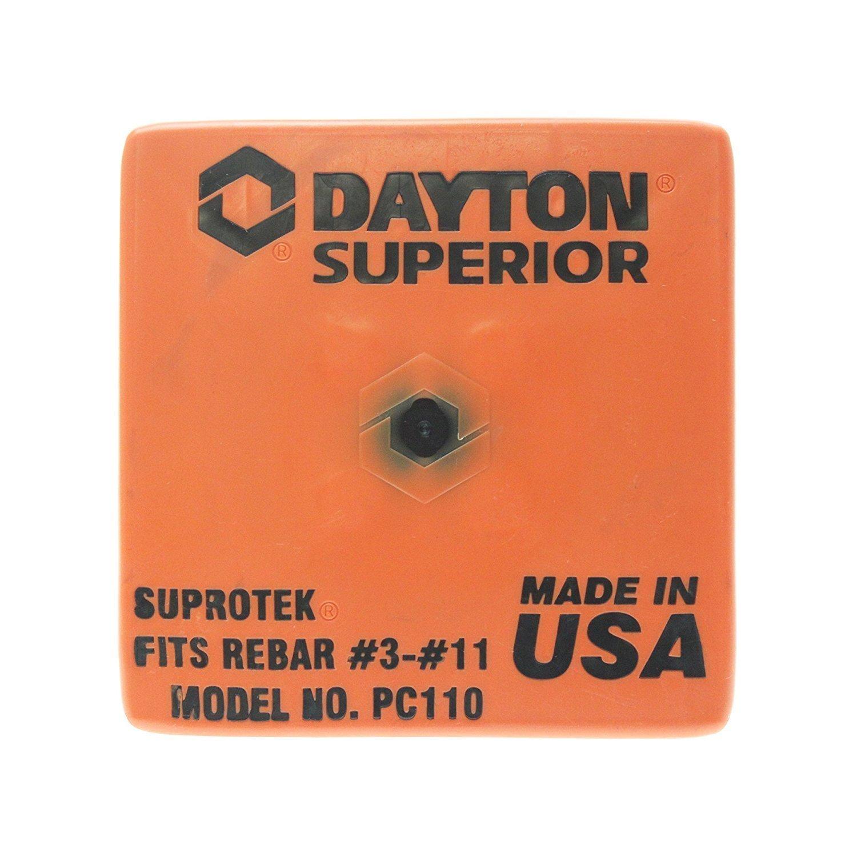 Dayton Superior OSHA Rebar Caps Fits #3- #11 Rebar Sizes QTY 100 by Dayton Superior