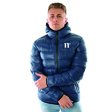 11 Degrees 11D-2411 Space Puffer Jacket - Navy Large Navy: Amazon ...