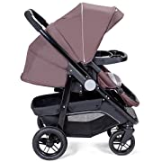 Costzon Baby Stroller, 2-in-1 Convertible Baby Carriage, Infant Pram Stroller with Cup Holder and 5-Point Safety System (Espresso)