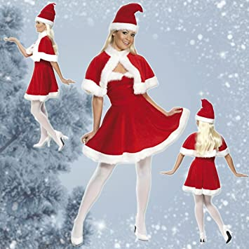 Disfraz de Mamá Noel Traje Navidad Mujer S 36/38 Outfit ...
