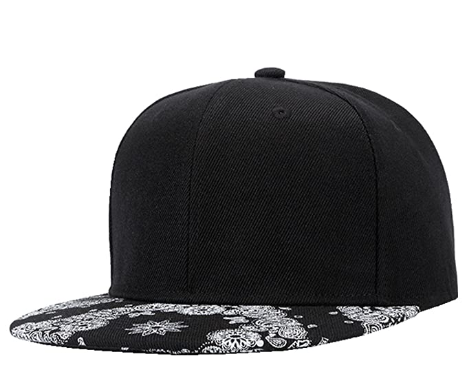 3bce01c3808a37 Image Unavailable. Image not available for. Color: Connectyle Print Flat  Bill Hats Adjustable Cool Snapback Hip Hop Baseball ...
