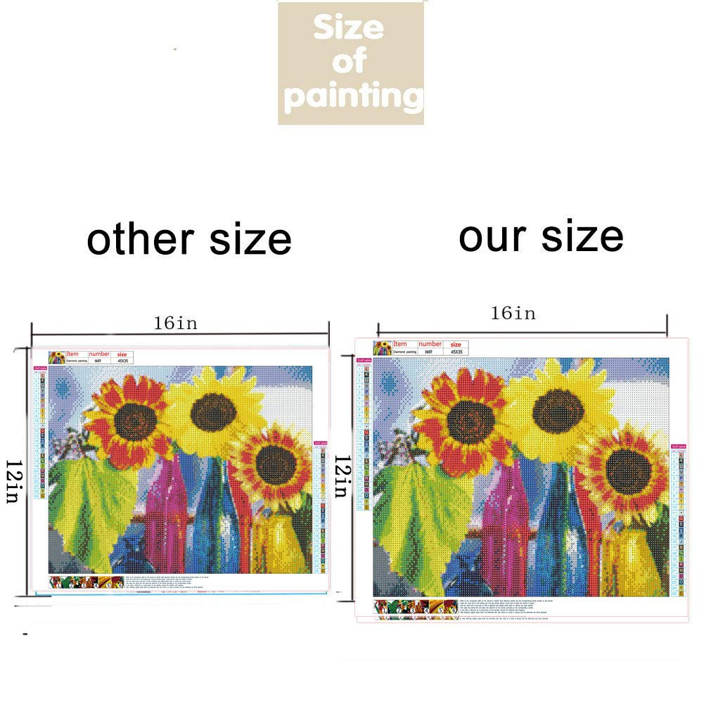 5D DIY Diamond Painting Kits for Kids Paint by Numbers Arts Crafts Fruits 8pcs//Set