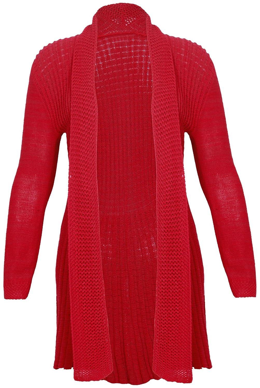 PurpleHanger Women's Waterfall Knit Open Cardigan Top Plus Size Purple Hanger Curvy