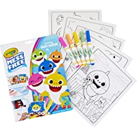 Crayola Baby Shark Color Wonder Coloring Pages, Mess Free Coloring Gift, Kids Indoor Activities at Home